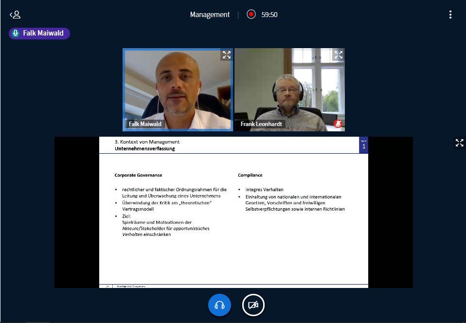 Bildschirm virtuelle Vorlesung