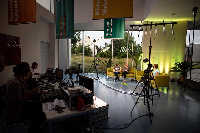 Blick ins Livestream-Studio